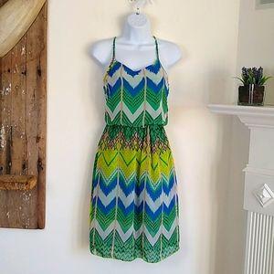 5th & Love Geometric Chevron Print Dress S